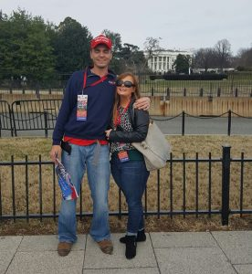 CBC employee Autumn Roberson and boyfriend Dustin Canady in front of the White House.