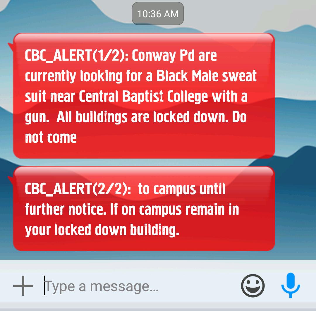 Campus lockdown, gunman near campus