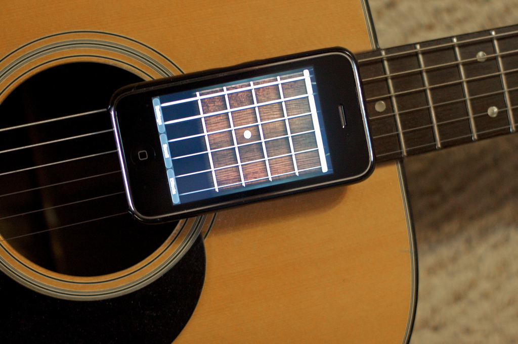Guitar with iPhone