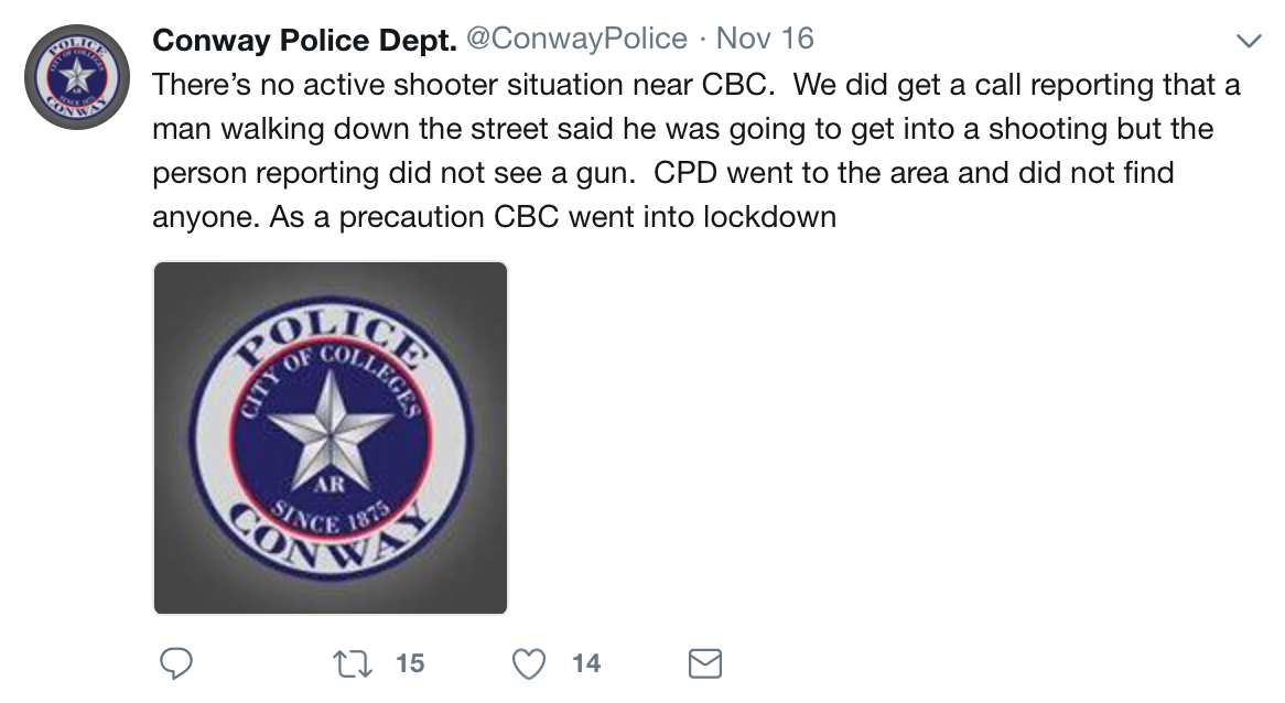 Conway PD Twitter