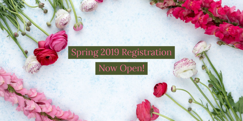 Early registration spring 2019